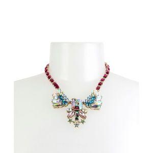 Betsey Johnson Star Stone Crystal Bib Necklace
